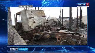 Пожар в Прионежском районе