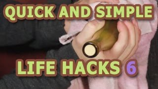 LIFE HACKS -- 7 ways to open a Wine bottle without a corkscrew!