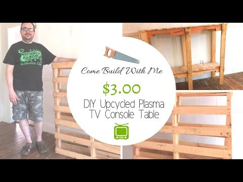 Build a TV Console Table For Only $3.00 | Come Build With Daniel
