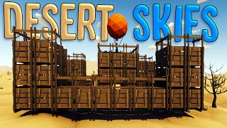 The Largest Build Possible! - Building A Giant Flying Castle in Desert Skies