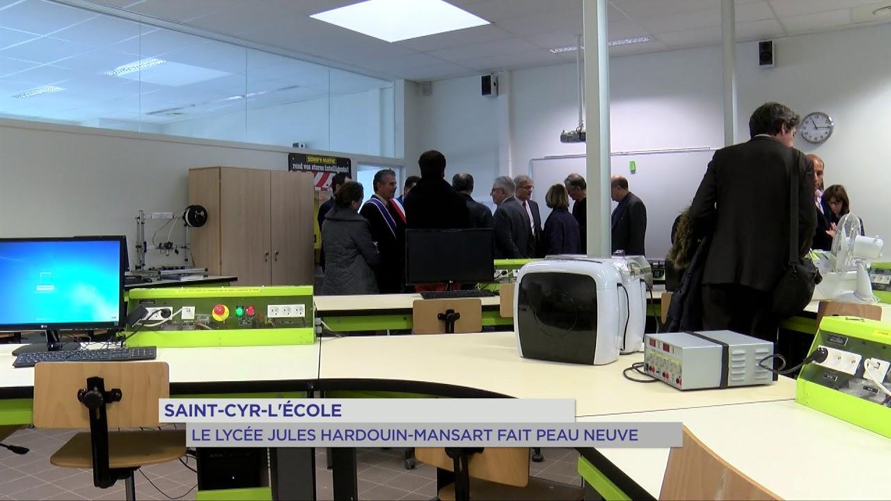 """Lycée """"Mansart"""" : inauguration à Saint-Cyr-l'Ecole"""
