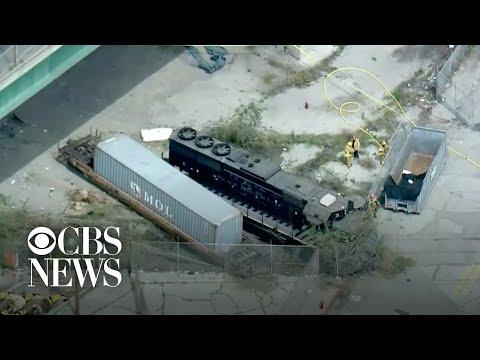 Feds: Man Intentionally Derailed Train Near Hospital Ship