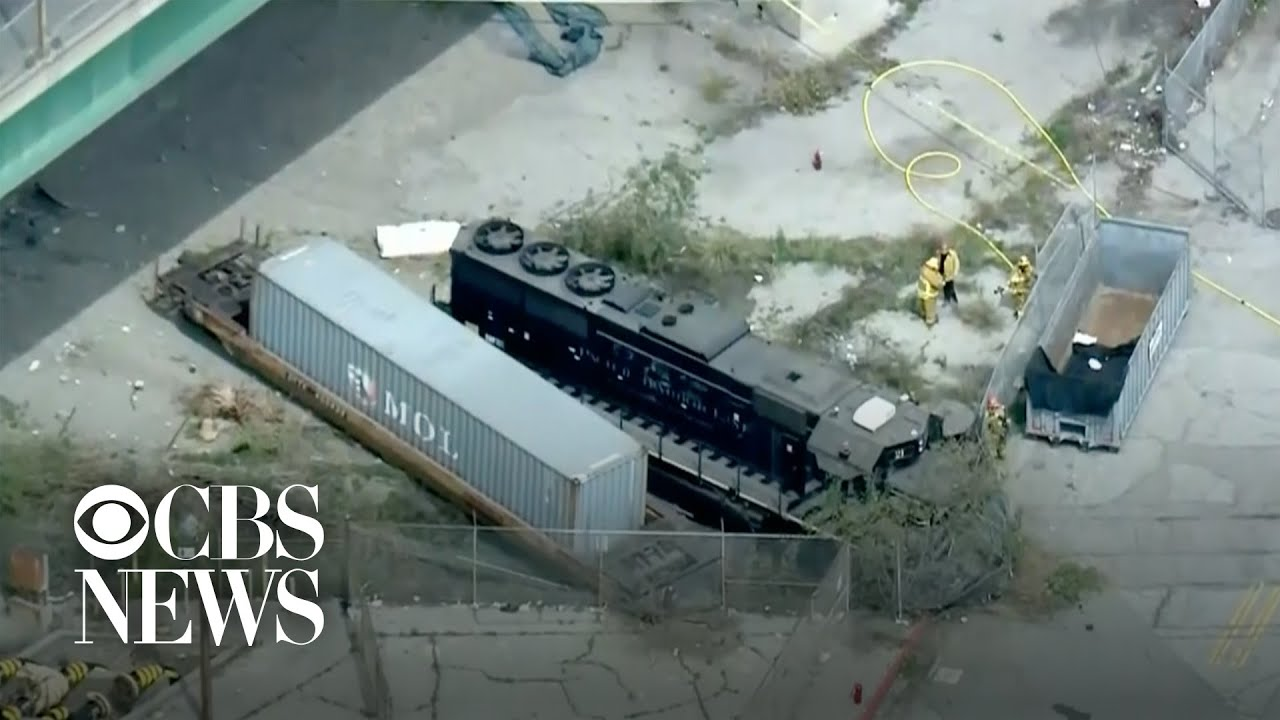 Feds: Man intentionally derailed train near hospital ship