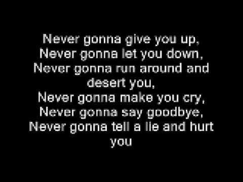 Rick Astley - Never gonna give you up with lyrics - YouTube