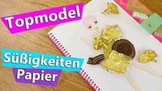 Topmodel DIY mit Süßigkeiten Papier?! Geht das?! DIY Experiment   Party Kleid Topmodel