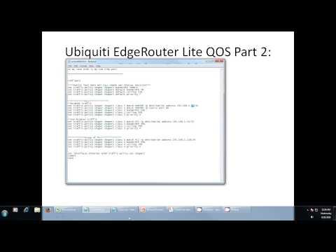 Ubiquiti EdgeRouter Lite QoS Part2: QoS by IP - YouTube
