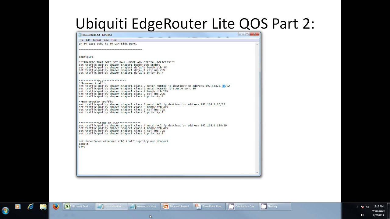 Ubiquiti EdgeRouter Lite QoS Part2: QoS by IP