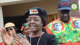 First Lady Dr Mugabe encourages  young girls in Murambinda girls to be proactive #263Chat