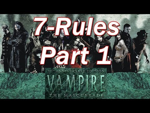 Vampire the Masquerade | VtM Episode 7 | Character Questions and Basic Rules Part 1
