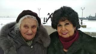 Жители блокадного Ленинграда района Щукино в Ленинграде. 75 лет снятия блокады.