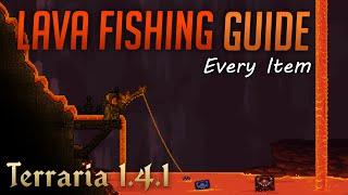 How to fish iฑ lava in Terraria 1.4.1