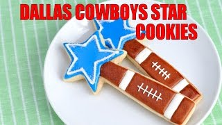 DALLAS COWBOYS  STAR FOOTBALL COOKIES, HANIELA