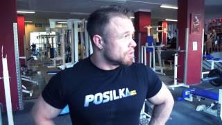 Posilka.cz - Filip Grznár - cvik na biceps zdvih s velkou činkou