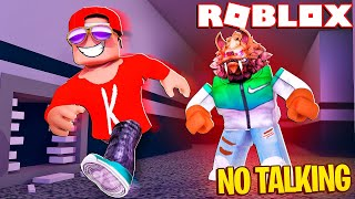The NO Talking Challenge! -- Roblox Flee the Facility (Funny Moments)