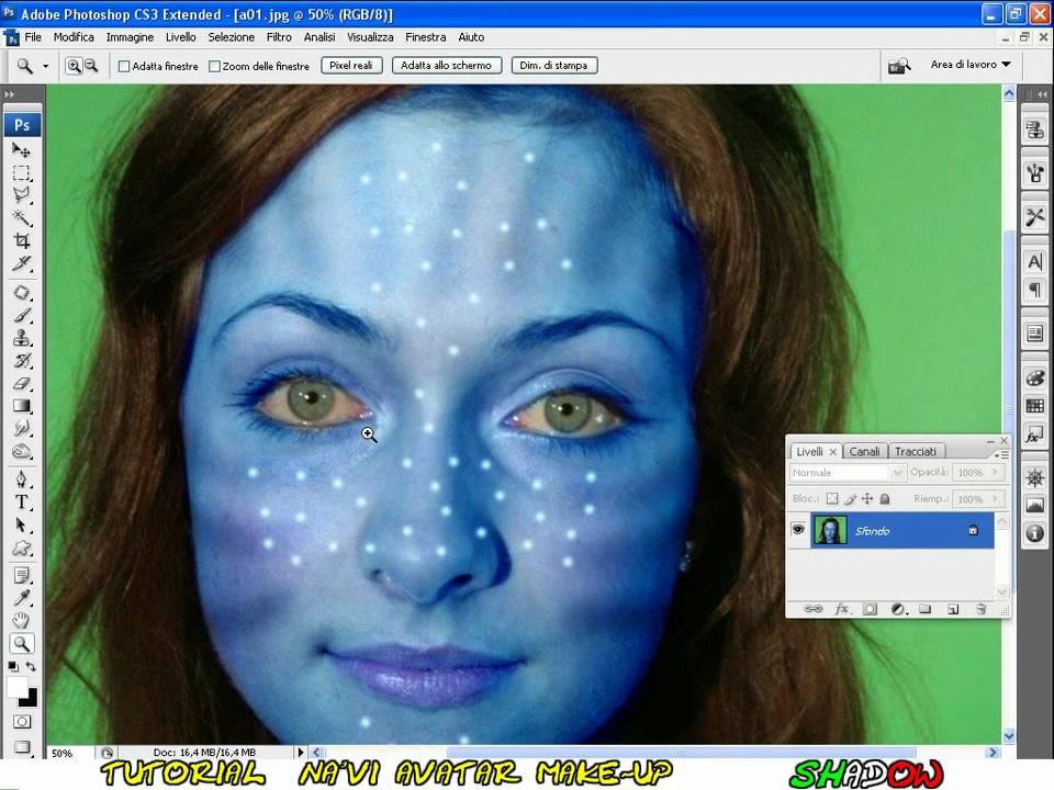 Tutorial Photoshop CS3 english - na'vi avatar makeover - YouTube