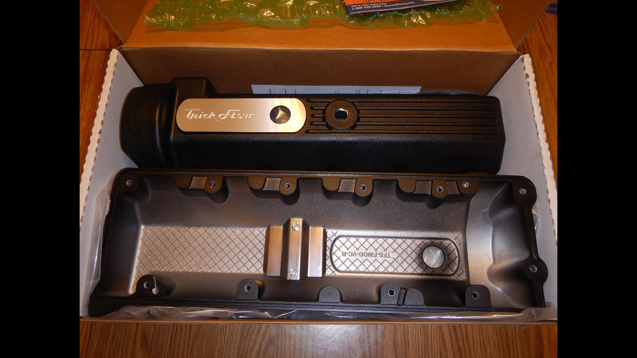 2014-05-13 - TRICK FLOW VALVE COVERS 2V 4 6L FORD MODULAR 11 BOLT ROMEO HEAD