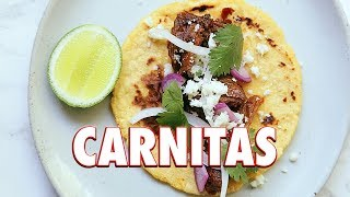 Crispy Carnitas Recipe (Mexican Slow Cooked Pulled pork)