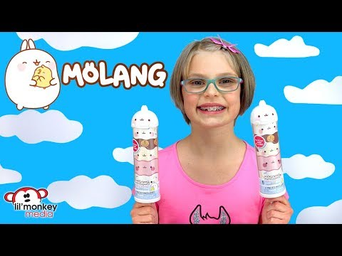 Molang Push N Peel Pop Series 1 - Kawaii Bunny and Baby Chick Bestie Piu Piu!
