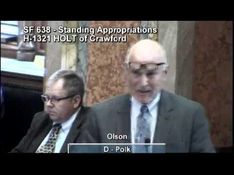 Rep. Rick Olson Speaks Against Politizing Judicial Nomination Process