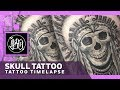 EPIC CINEMATIC TATTOO TIME LAPSE | INDIAN SKULL | ANDRÉ TATTOOARTIST