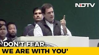 BJP Rules By Fear, Don't Fear, We Are Together, Says Rahul Gandhi
