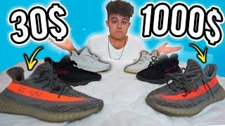 TÊNIS FAKE DE 30$ vs TÊNIS ORIGINAL DE 1000$ (Qual a Diferença?)