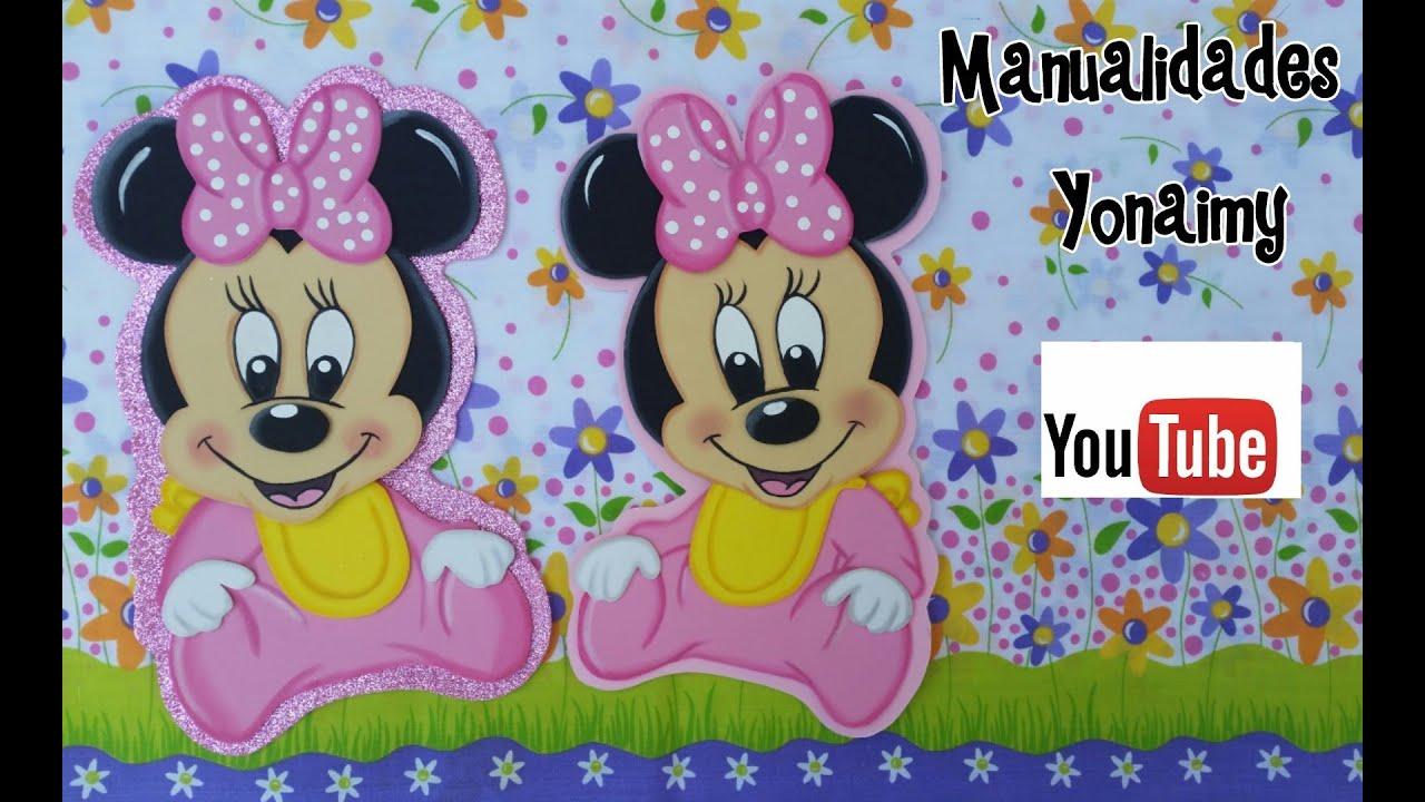minnie mouse bebe para centros de mesa o adornos de habitacion hechos con foamy youtube