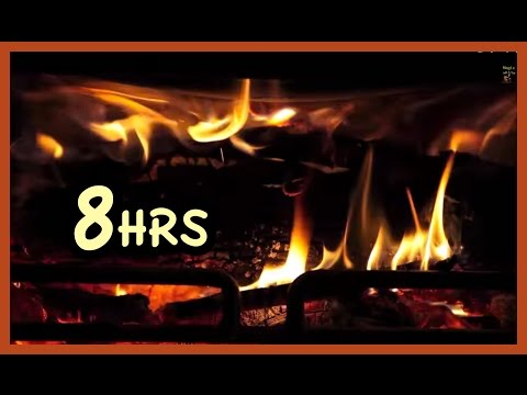 "8 Hrs  Beast Fireplace Realistic ""screensaver"""