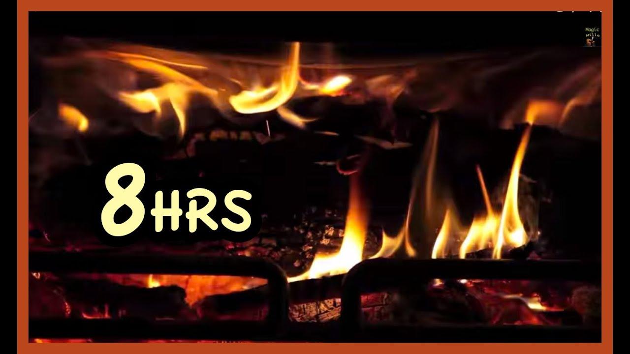 "8 Hrs Beast Fireplace Realistic ""screensaver"" - YouTube"