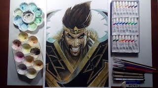 Speed Drawing - Draven from League of Legends
