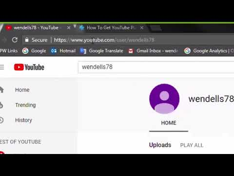 Examining A YouTube Channel URL For YouTube API Input Parameters