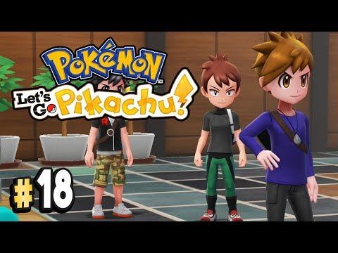 Pokemon Let's Go Pikachu Part 18 SILPH CO BLUE & GIOVANNI Walkthrough Gameplay