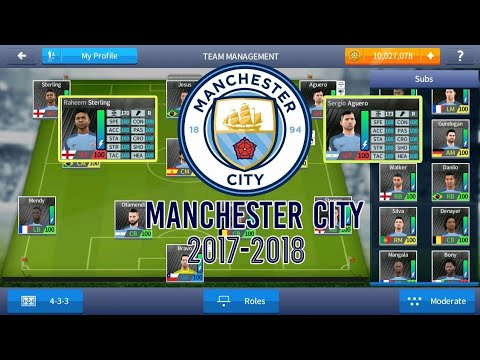Dream League Soccer 18 Manchester City MOD ( OFFICIAL logo+kits+stadium)  UNLIMITED COINS  [NO ROOT]