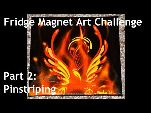 Cambridge Pinstriping, The Fridge Magnet Art Challenge - Part 2: Pinstriping