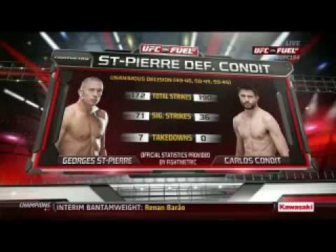 gsp vs carlos condit highlights