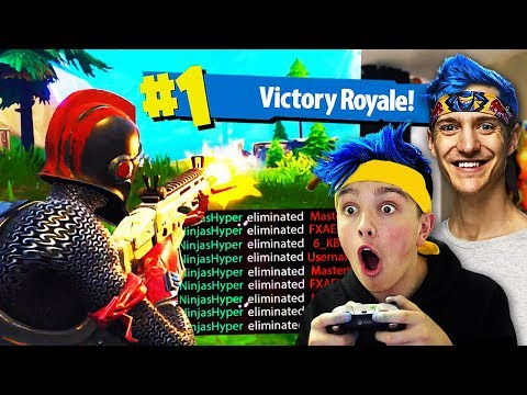 I Pretended To Be NINJA \u0026 Won Every Fortnite Game... (Ninja Fortnite Challenge)