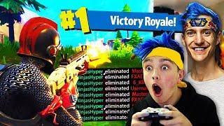 I Pretended To Be NINJA & Won Every Fortnite Game... (Ninja Fortnite Challenge)