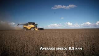 New Holland CR8.90 Soybean world harvesting record attempt