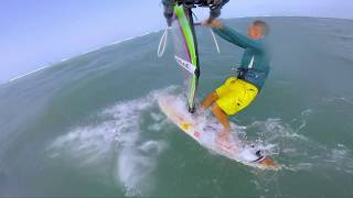 Windsurfing Quick Tack or Fast Tack Examples on low volume board and light winds