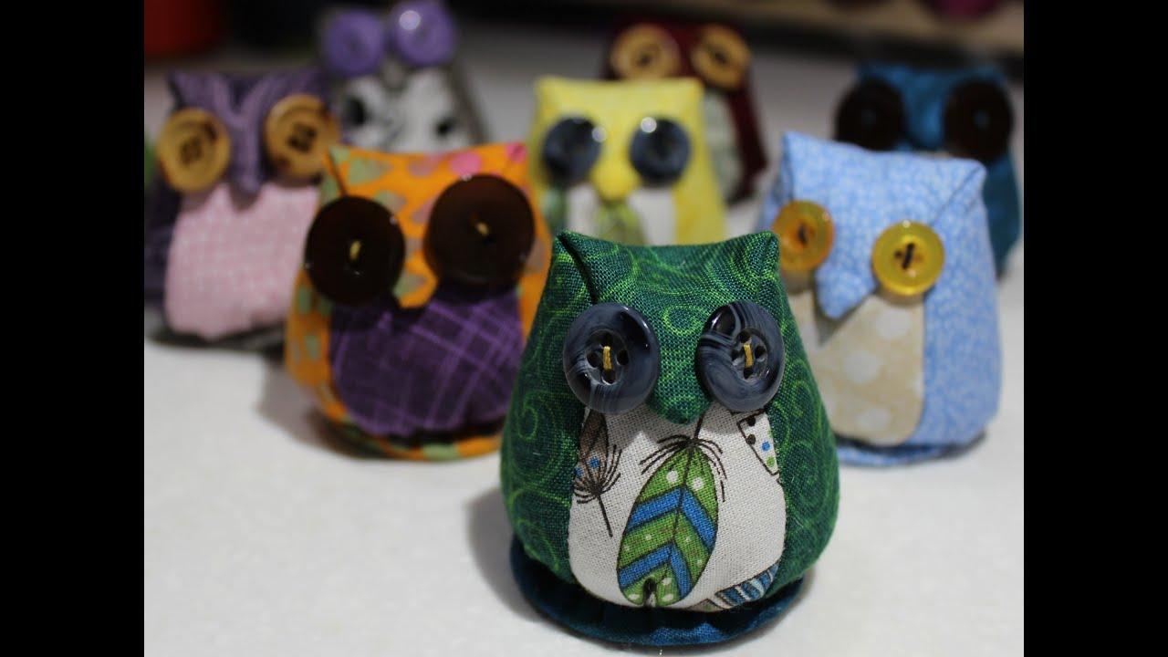 How to make an Owl Pincushion - YouTube