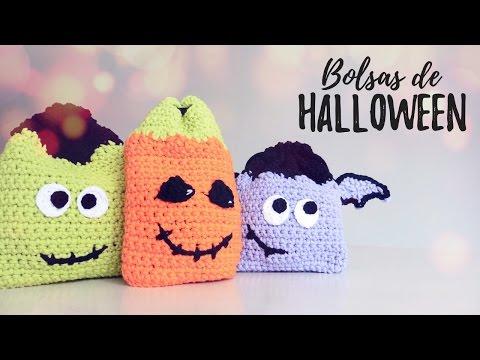 Bolsas/Mochilas de HALLOWEEN a crochet | Ahuyama Crochet