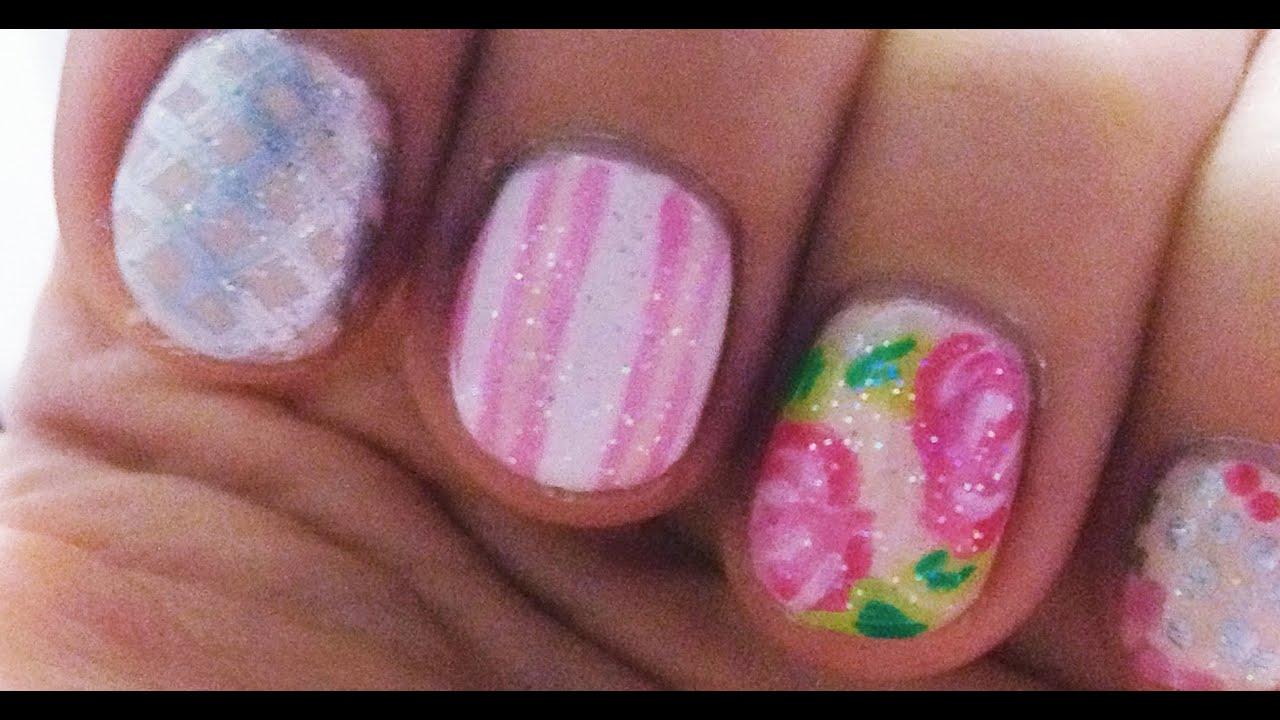 Nails Diseño De Uñas Facil Con Flores Vintage