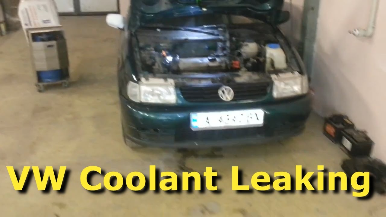 VW Polo 6n1 Common coolant leaking problem - YouTube