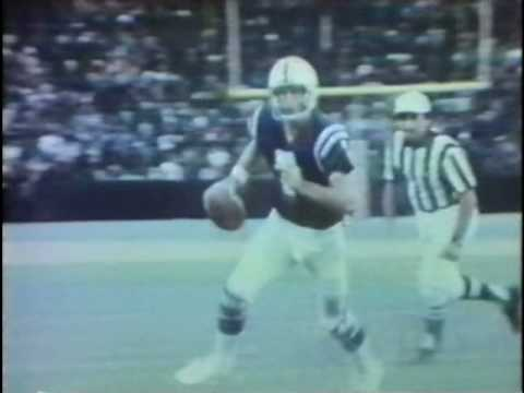 Bert Jones & Johnny Unitas - Colts - 1977 - TV