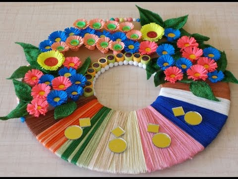 Diy room decor diy christmas wreath for home decoration for Art and craft for wall decoration