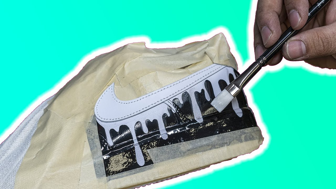 nike shoes with dripping swoosh
