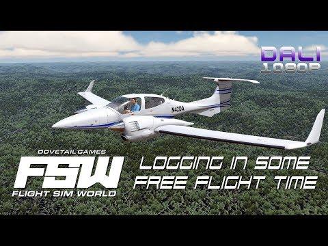 Flight Sim World - Logging in some Free Flight time