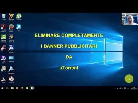 μTorrent v .3.4.5 (UTORRENT) Eliminare Pubblicità Completamente