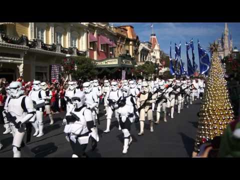 Star Wars Stormtroopers, Darth Vader On Main Street, Magic Kingdom - Disney Parks Christmas Parade
