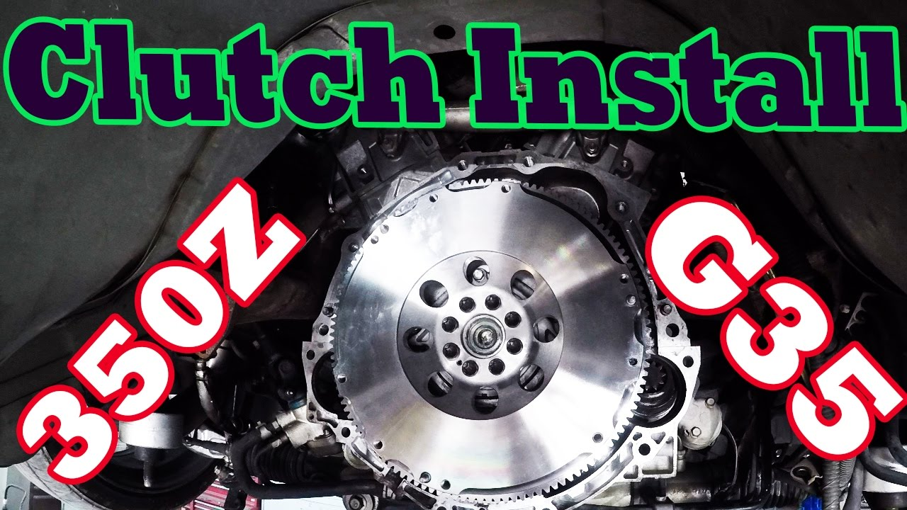 how to install g35 350z clutch and flywheel with rear main seal [ 1280 x 720 Pixel ]
